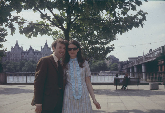 My parents in London. Probably late 1960s.